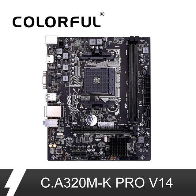 Nhiều màu sắc C.A320M-K PRO V14 iGame Bo Mạch Chủ AMD M-ATX Ryzen Bộ Xử Lý Game A320 Mainboard Cho Ổ Cắm AM4 DDR4 USB3.0 SATA3.0