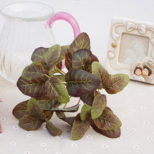1 bundle Artificial plant leaves vases for christmas decoration for home wedding fake Plant wall small bonsai silk leaf bouquet