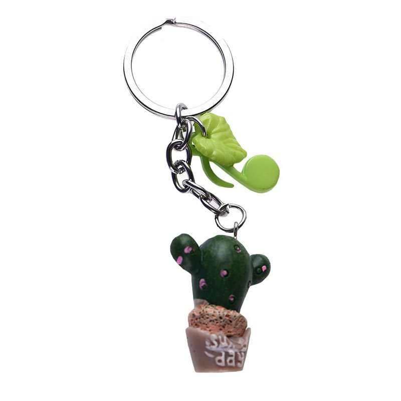 Detail Feedback Questions about Pot Plant Keychain Cute Resin Cactus ... 577528247