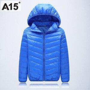 Image 3 - A15 Çocuk Giyim sıcak tutan kaban 2019 Kız Ceket Bahar Sonbahar Kış Kapüşonlu Yürümeye Başlayan Genç Ceketler Erkek Yaş 10 12 14 16 Y