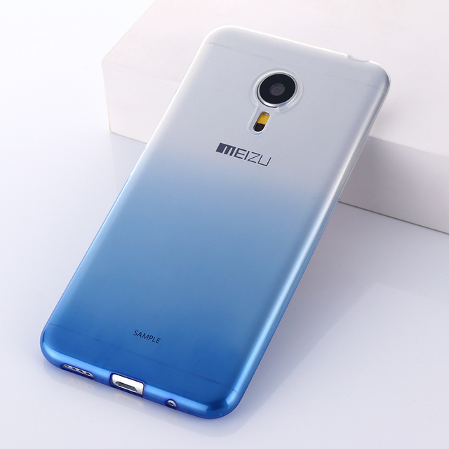 """Meizu PRO 5 case cover pro5 Transparent thin silicone shell 5.7"""" ultra thin Color gradient back cover"""