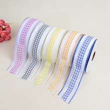 British Wind Ribbon Lattice Checkered Belt DIY Bow Accessories Headdress Clothing Factory Direct Wholesale Material