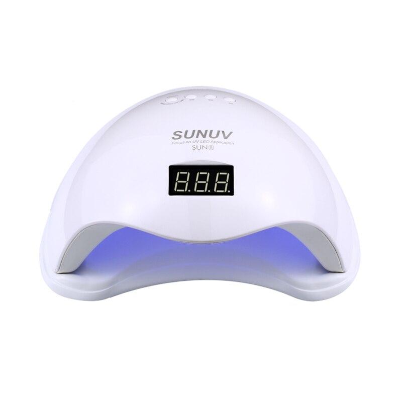 Smart Сушилка для ногтей SUN5 48 Вт светодио дный УФ-лампы для ногтей быстрое высыхание гель Лаки лак для ногтей автоматическое определение Солнц...
