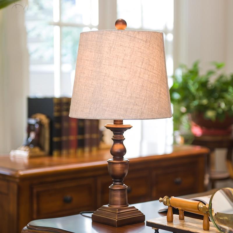 Led Bedside Table Lamp Royal Vintage Resin Wedding Gift Living Room Bedroom Home Lighting Decor  Desk Lamp Fixtures Luminaria