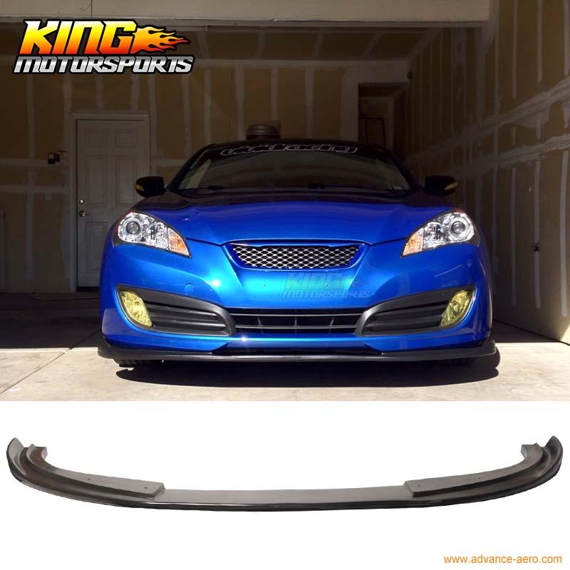 Fit For 10 11 12 Hyundai Genesis 2Dr Coupe Front Bumper Lip Spoiler Urethane