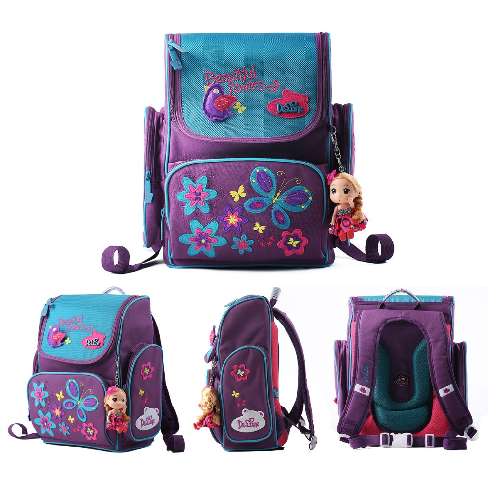 Delune Kids Cartoon Backpacks School Backpack Children Orthopedic ...