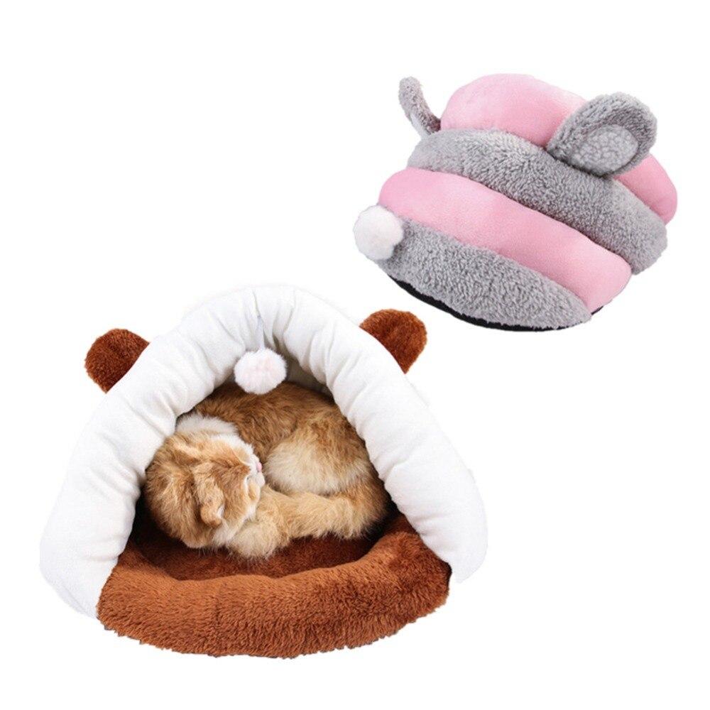 Pet Mat Winter Warm Nest Cat Pet Kitten Small Dog Kennel Bed Sofa Sleeping Soft Polar Fleece Bag House Puppy Cave Plush Bed in Cat Beds Mats from Home Garden
