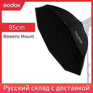 "Image 1 - Godox Pro 95 cm 37 ""Octagon Honeycomb Grid Bowens Mount Softbox Reflector Softbox voor Studio Strobe Flash Light"