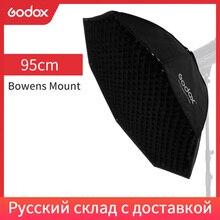 """Godox Pro 95 cm 37 """"grille en nid dabeille octogonale Bowens monture Softbox réflecteur Softbox pour Flash stroboscopique Studio"""