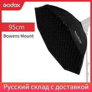"Image 1 - Godox Pro 95cm 37"" Octagon Honeycomb Grid Bowens Mount Softbox Reflector Softbox for Studio Strobe Flash Light"