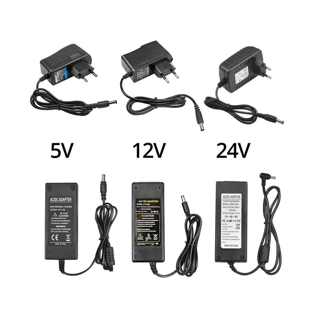 Universal EU US Plug Switching Adapter AC 220V-240V To 5 V 12 V 24V Volt Power Supply DC 5V 12V 24V 1A 2A 3A 5A Power Adapter