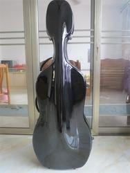 Große 4/4 schwarz fiberglas cello hard case w/wheells