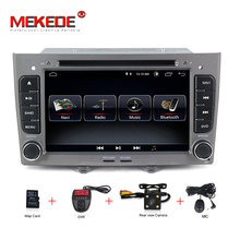MEKEDE Android8.1 Quad-core For Peugeot 308 408 Car DVD player gps navigator Bluetooth Radio Free shipping mic map card gift(China)