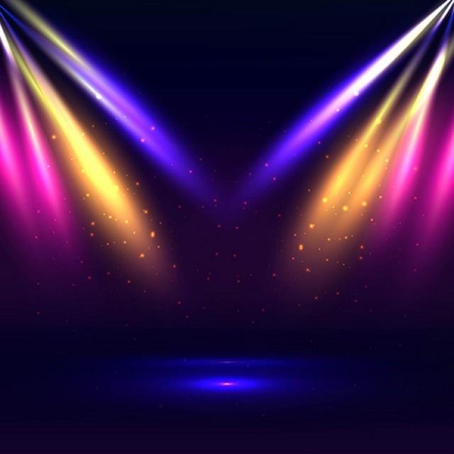 Colour Light Led Gold Blue Stage Theatre Party Scene Photo