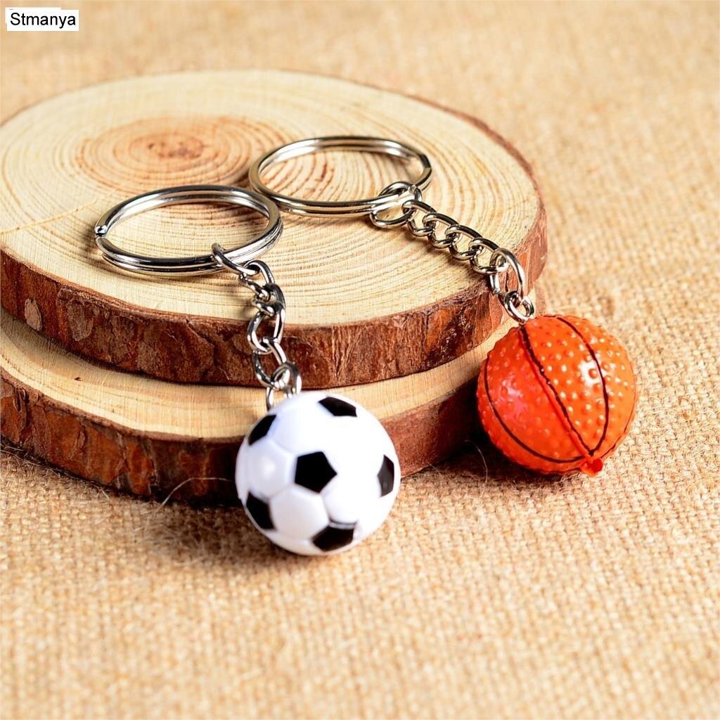 New Fashion Football Club metal Key chain Car Key Chain Key Ring Basketball Golf ball Pendant Key ring For Best GIFT 17166