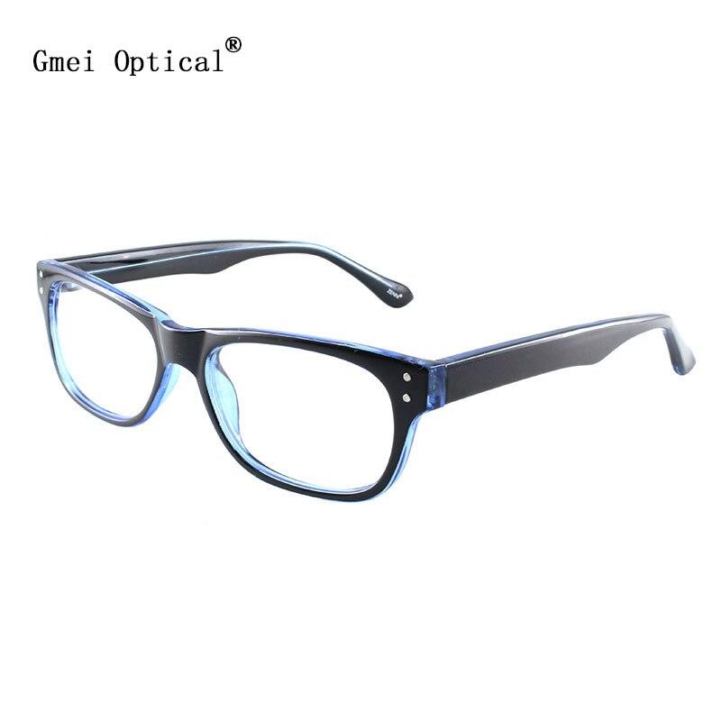 ٩(^‿^)۶Gmei óptico moda Gafas azul plástico lleno-borde prescripción ...