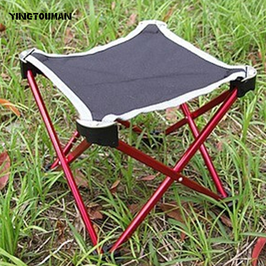 YINGTOUMAN Outdoor Travel Folding Leisure Chair Ultralight Aluminum Alloy Folding Stool Camping Fishing Chair Gardening Beach new arrival high quality folding fold aluminum chair outdoor stool seat for fishing for camping