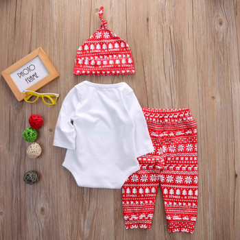 New Christmas 3PCS Outfits Set Baby Boy And Girls 1