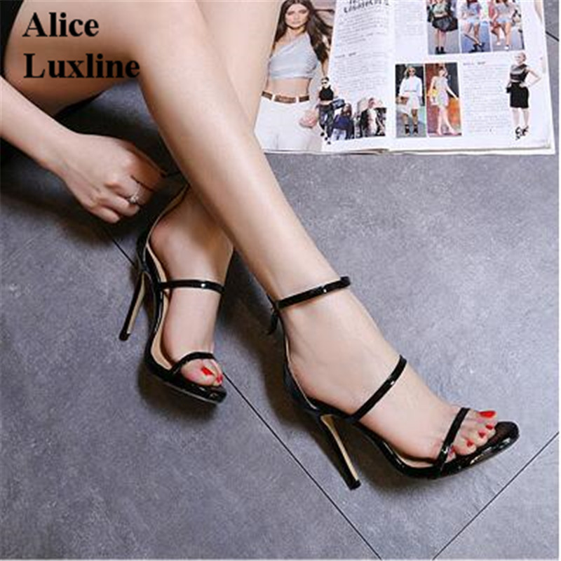 New 2017 Silver Gold Black women Gladiator Sandals ladies High Heels Simple Three Straps Cross Foot Shoes pumps Woman Sandalias phyanic 2017 gladiator sandals gold silver shoes woman summer platform wedges glitters creepers casual women shoes phy3323