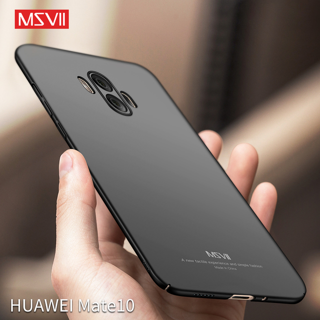 Msvii Trường Hợp Khó Khăn Cho Huawei Mate 10 9 8 7 Pro Sang Trọng Matte trường hợp cho P20 Pro P10 P9 Cộng Với slim Cover quay lại cho Honor V10 V9 9i