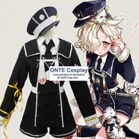 Mode Spiele Touken Ranbu Online Gokotai Tiger Cosplay Kostüme Polizeiuniform Outfit mit Hut