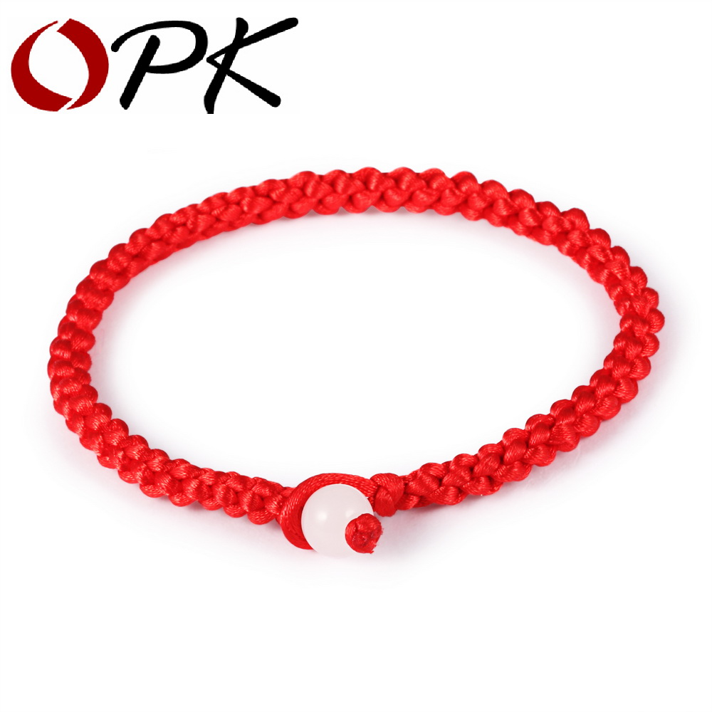 OPK Simple Style Classic Lucky Chinese Braided Red String Rope Cord Bracelet Gift Cheap Price Jewelry HS001