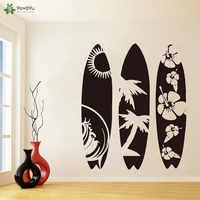 YOYOYU Wall Decal Large Surfboard Set of 3 Wall Sticker Modern Vinyl Art Summer Beach Sport Sea Surfboard Wall Decal QQ314