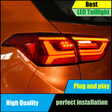 Car Styling For Hyundai Creta 2014-2017 IX25 taillights Full LED Tail Lamp Rear Trunk Light Moving turn signal+DRL+brake+reverse car styling tail lights for toyota highlander 2012 2014 taillights led tail light rear lamp drl brake signal auto accessories