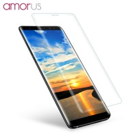 AMORUS For Samsung Galaxy Note 8 SM N950 Silk Print Full Size 3D Curved Tempered Glass