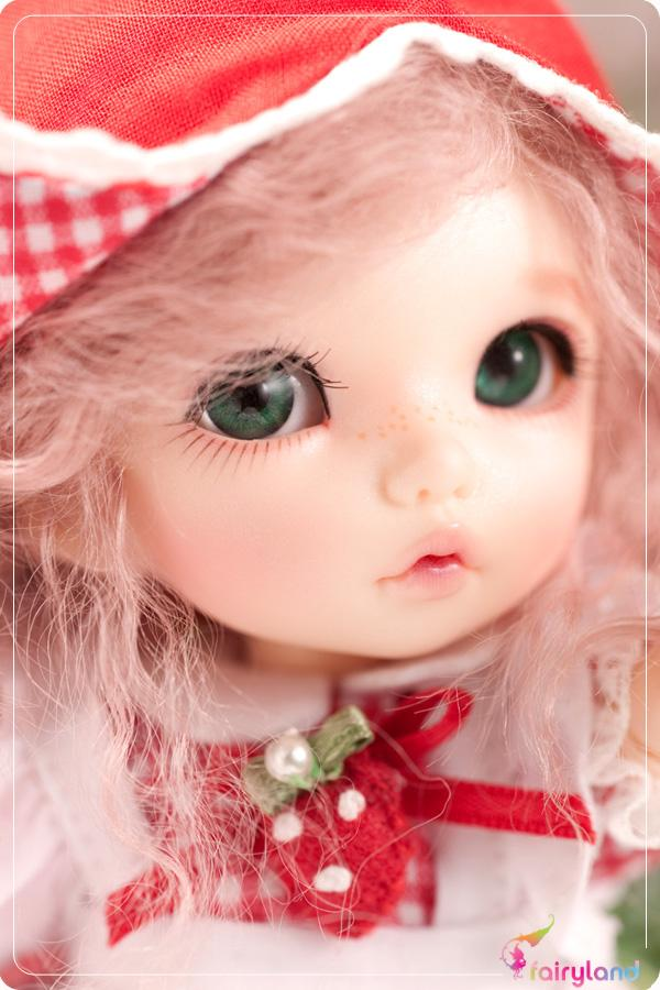 Free shipping BJD doll Rin Basic two face and ears 1 8 with eyes