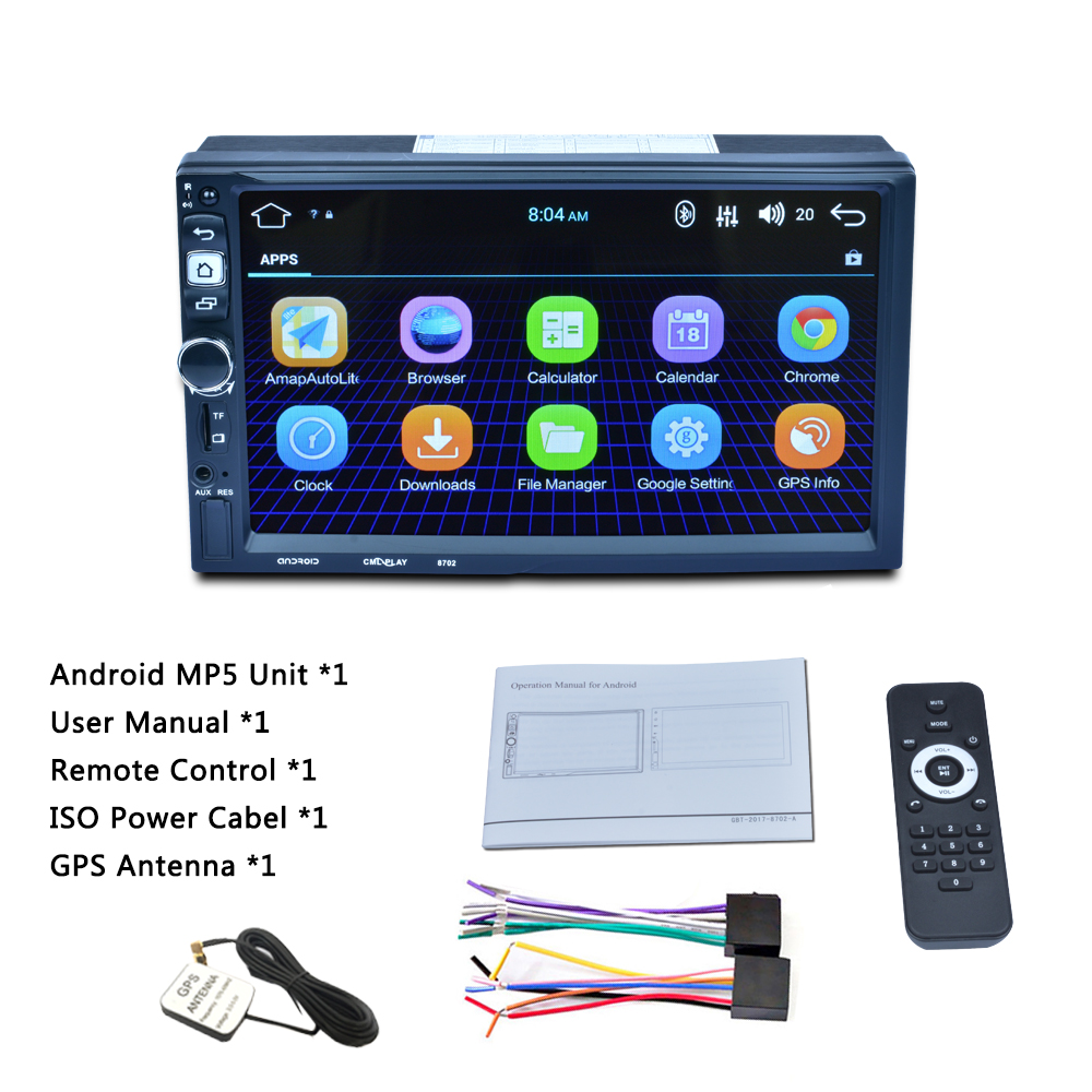 <font><b>2</b></font> <font><b>DIN</b></font> Android Car GPS Navigation Mp5 player Touch Screen Bluetooth Radio with GPS Australia map image