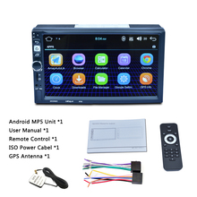 2 DIN Android Car GPS Navigation Mp5 player Touch Screen Bluetooth Radio with GPS Australia map 2 din 7inch car gps navigation touch screen 1g 16g android 8 1 mp5 player bluetooth wifi fm radio dual usb