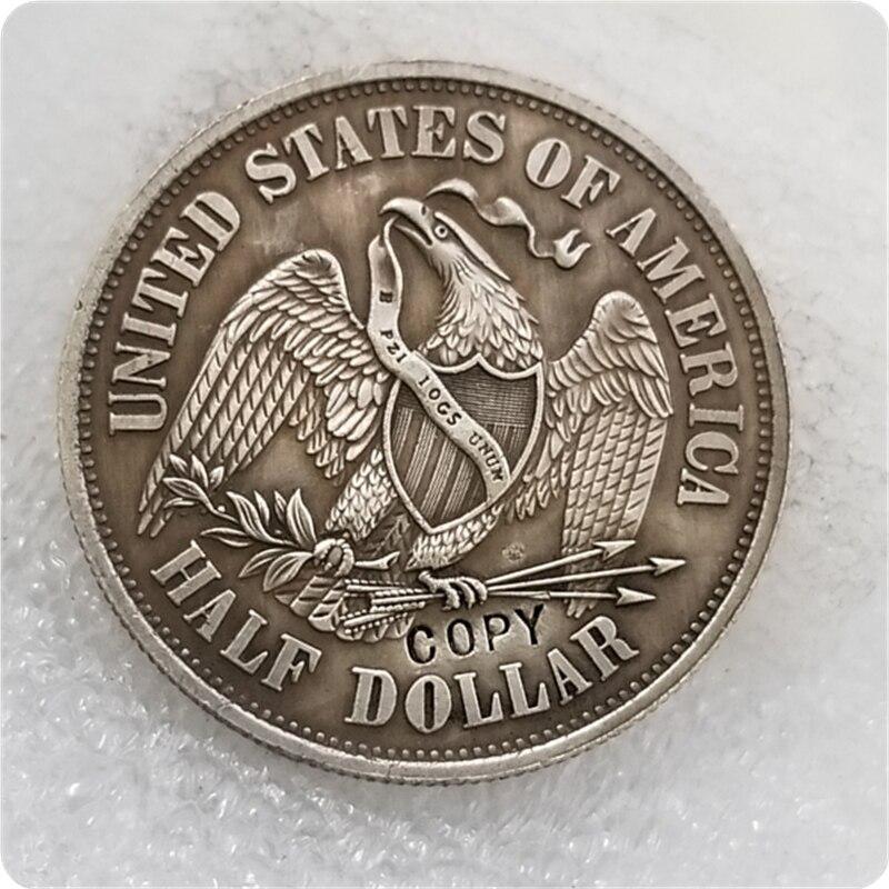 Paquet de pièces de monnaie demi-Dollar assis | Modèle américain 1859