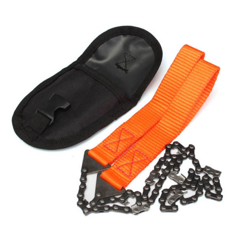 Emergency Household Gardening Hand Chainsaw With Nylon Bag Outdoor Survival Pocket Chain Saw Hand Chainsaw 65cm Camping Hiking