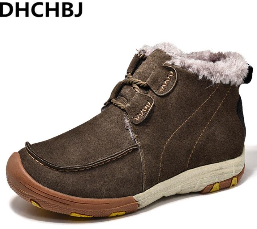 Courtes Confortable Garder Automne Chaud Hiver Qualité Bleu Homme Cuir Bottes marron Au Daim Chaussures Casual Hommes Mode Haute Zapatillas En fqaP1108