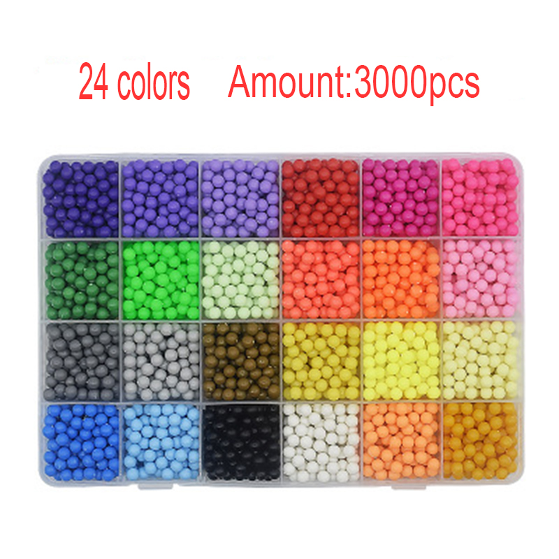 24/15 Colors Aqua Beads Puzzle Choice 5mm Aquabeads Perlen Magic Water Beads Puzzles Toys Educational Kids Toys Puzzle Games стоимость