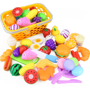 Image 2 - 12 31PCS Cutting Fruit Vegetable Food Pretend Play Do House Toy Childrens Kitchen Kawaii Educational Toys Gift for Girl Kids