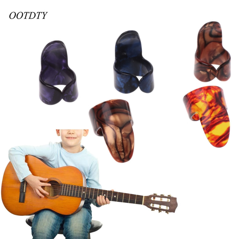 OOTDTY Index Finger Guitar Pick Celluloid Mediator for Acoustic Electric Guitar Drop Ship