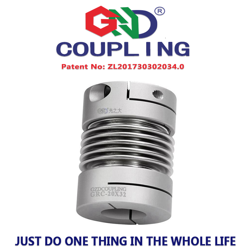 Bellows coupling clamp series D20 L32 coupling shaft 5mm zero backlash Bservo motor spring quick-bellow aluminum alloy couples d40mm setscrew hard alloy flex metal bellow coupling