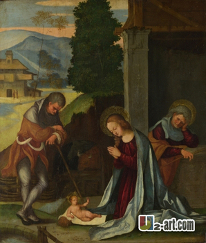 Canvas Prints (Ludovico Mazzolino) Free shipping sales of printing household goods classic canvas painting Religion-396 image