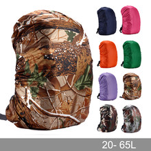 Rain cover backpack 20L 30L 35L 40L 50L 60L Waterproof Bag Camo Tactical Outdoor Camping Hiking Climbing Dust Raincover(China)