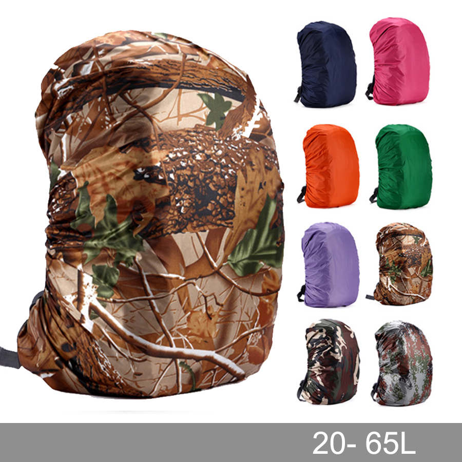 Rain cover <font><b>backpack</b></font> 20L 30L <font><b>35L</b></font> 40L 50L 60L Waterproof Bag Camo Tactical Outdoor Camping Hiking Climbing Dust Raincover image