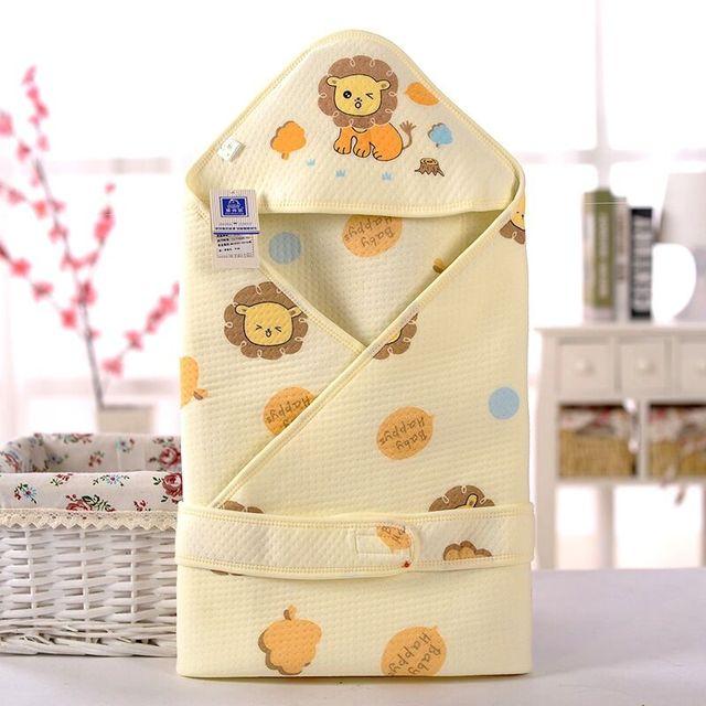 2016 New Cotton Baby Blanket Newborn Props Basket Cartoon Soft Breathable Envelope blanket