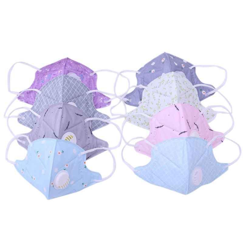 2 cái/bộ Unisex 3D Nạ Spunlace Vải Dùng Một Lần Chống-Khói PM2.5 Dustpoorf Miệng Mặt Nạ Đa Lọc Hai Lớp Hoa In