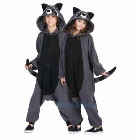 One Piece Anime Animal Gray Raccoon Cosplay Pajamas Adult Cosplay Costumes Carnival Halloween Onesie Polar Fleece Jumpsuit
