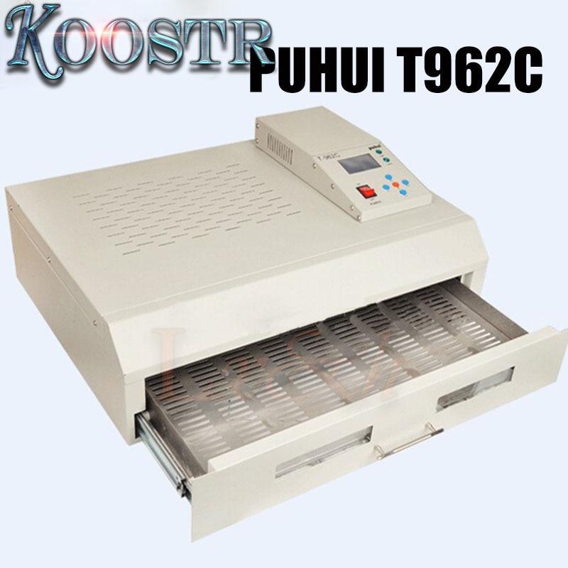 PUHUI T962C BGA Rework Station T 962C Reflow Oven Machine Infrared Heater 2500W
