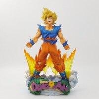 Dragon Ball Figure Son Goku Figure MSP Super Saiyan The Brush Figure PVC 240mm Dragon Ball