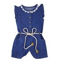 赤ちゃん女の子服夏薄いデニム全体パンツ服用子供ジーンズオーバーオールジャンプスーツ衣装子供女の子服セット