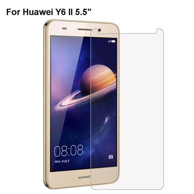 Vidrio templado 2.5D templado 9H Thin Film Protector de pantalla para Huawei Y6 Pro