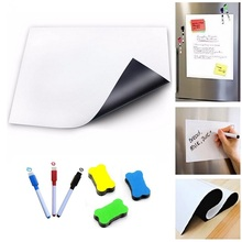Flexible Magnetic Whiteboard for Fridge Magnets White Board Marker Record Message Memo Pad Kitchen Office Remind Notepad